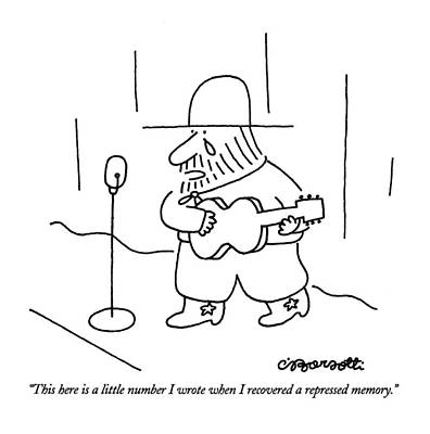 This Here Is A Little Number I Wrote When Poster by Charles Barsotti