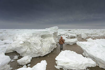 This Is How Thick Ice In Wellfleet Cape Cod Poster by Dapixara