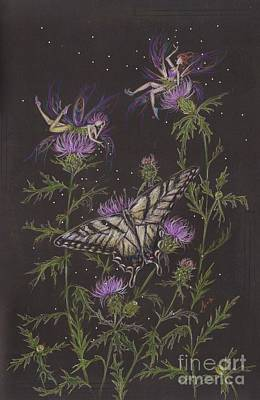 Thistle Poster by Dawn Fairies