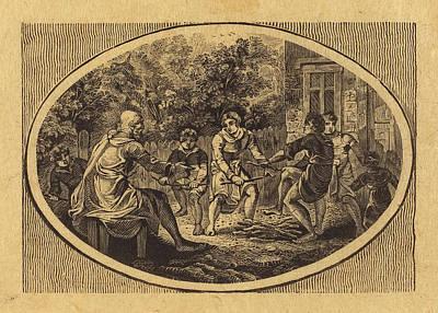 Thomas Bewick British, 1753 - 1828, The Boasting Traveler Poster