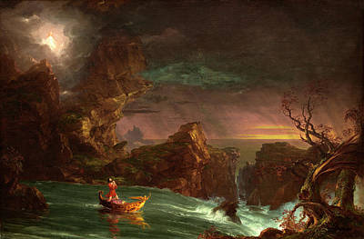 Thomas Cole American, 1801 - 1848, The Voyage Of Life Poster