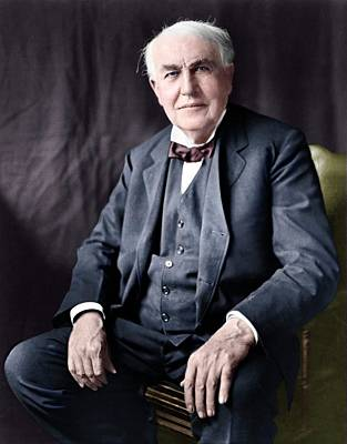 Thomas Edison Poster by Library Of Congress