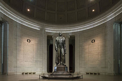 Poster featuring the photograph Thomas Jefferson Memorial At Night by Sebastian Musial