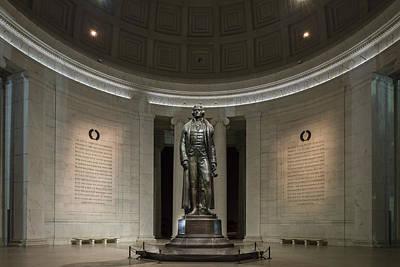 Thomas Jefferson Memorial At Night Poster