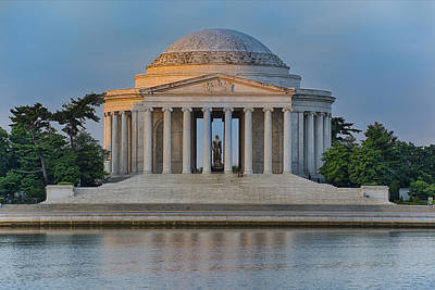 Thomas Jefferson Memorial At Sunrise Poster by Sebastian Musial