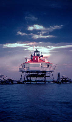 Thomas Point Shoal Lighthouse Poster by Skip Willits