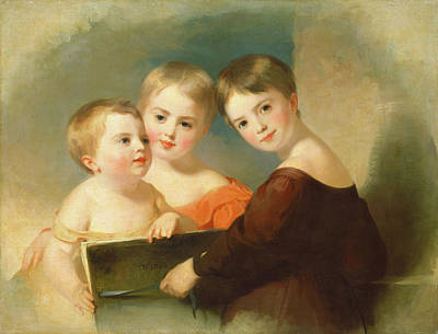 Thomas Sully, The Vanderkemp Children, American Poster