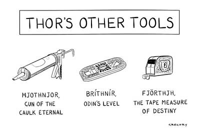Thor's Other Tools -- Various Carpentry Tools Poster by Alex Gregory