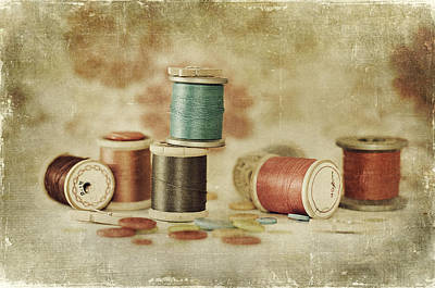 Threads And Buttons Poster by Sofia Walker