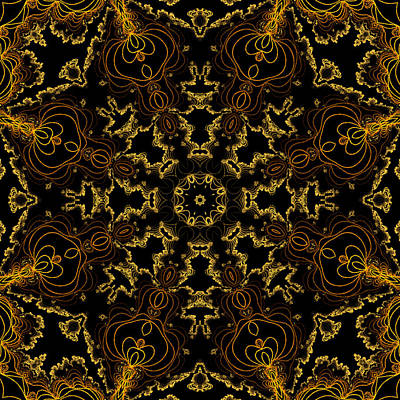 Poster featuring the digital art Threads Of Gold And Plaits Of Silver by Owlspook