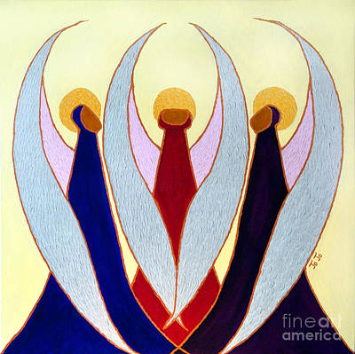 Three Angels Poster by Jo-Anne Elniski