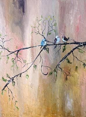 Three Birds Poster by Evelina Popilian