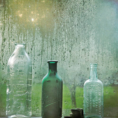 Three Bottles Poster by Sally Banfill