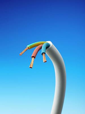 Three-core Electrical Cable Poster by Science Photo Library