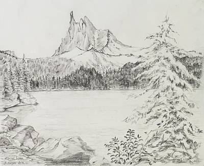 Three-fingered Jack Above Marion Lake Poster by Jean Moule