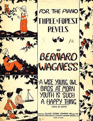 Three Forest Fevels Poster by Mel Thompson