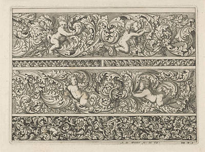 Three Friezes With Leaf Tendrils, Anthonie De Winter Poster