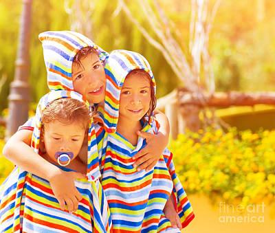 Three Funny Child Poster