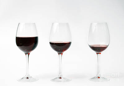 Three Glasses Of Wine  Poster by Patricia Hofmeester