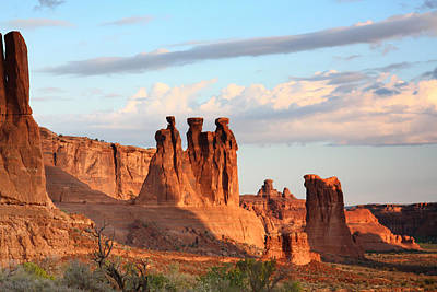 Three Gossips In Arches National Park Poster