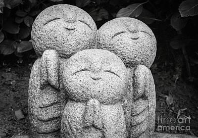 Three Happy Buddhas II Poster by Dean Harte