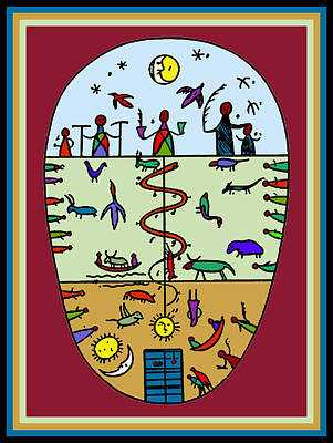 Poster featuring the digital art Three Layers Of Life by Vagabond Folk Art - Virginia Vivier