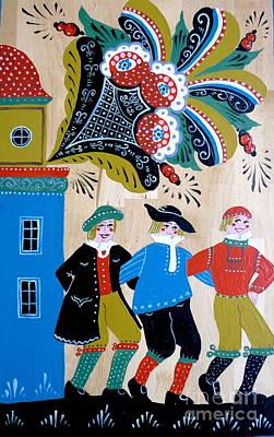 Three Men Dancing Poster