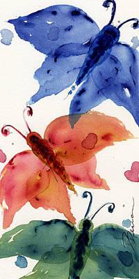 Three Moths II Poster by Dawn Derman