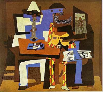 Three Musicians Poster by Picasso Pablo Pablo Picasso