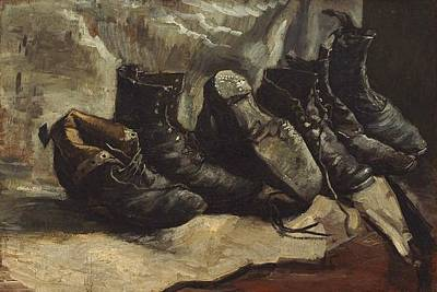 Three Pairs Of Shoes Poster