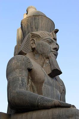 Three Quarter View Sculpture Of Pharaoh Poster