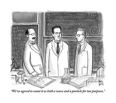 Three Scientists In A Lab Poster by Paul Noth