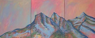 Three Sisters Mountians Alberta Poster
