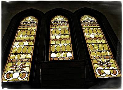 Three Stained Glass Windows Poster by Image Takers Photography LLC - Carol Haddon