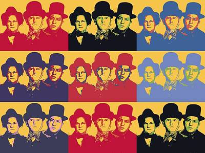 Three Stooges Pop Art Collage Poster