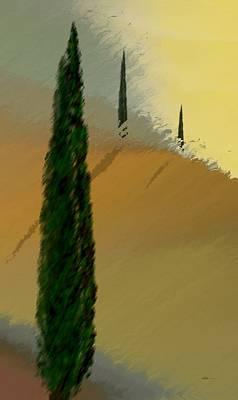 Three Tree Tuscany Poster