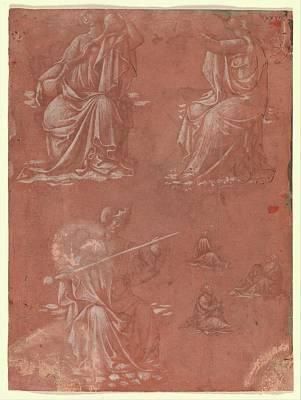 Three Virtues Temperance, Hope Poster by Circle of Lorenzo Monaco