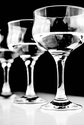 Three Wine Glass In  Poster