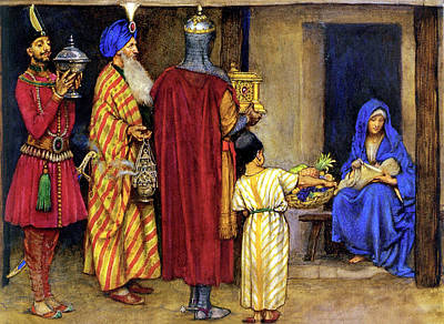 Three Wise Men Bearing Gifts Poster by Eleanor Fortescue Brickdale