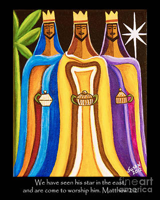 Three Wise Men Follow The Star Poster