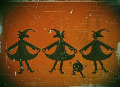 Three Witches Vintage Poster