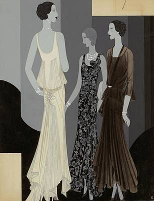 Three Women Wearing Chanel Poster by William Bolin