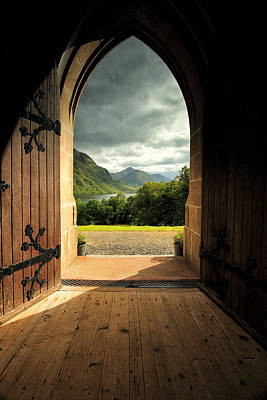Through The Arched Door Poster by Grant Glendinning