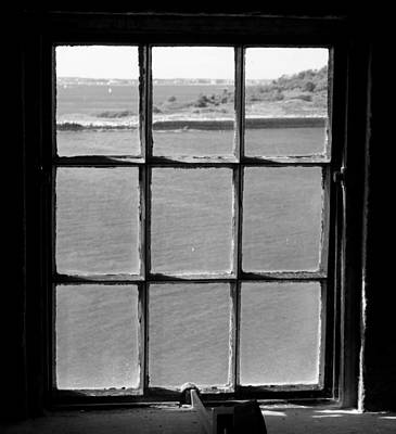 Poster featuring the photograph Through The Lighthouse Window by John Hoey