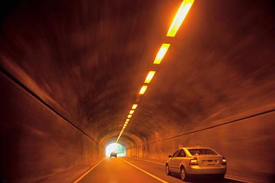 Thru The Tunnel Poster by Karol Livote