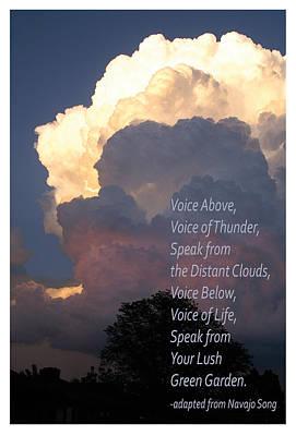 Thunder Clouds Navajo Song Poster