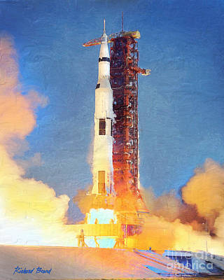 Thunder Of Apollo Saturn V Poster