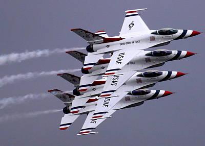 Thunderbirds At Salinas Air Show Poster