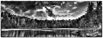 Thunderclouds Over Cary Lake Poster