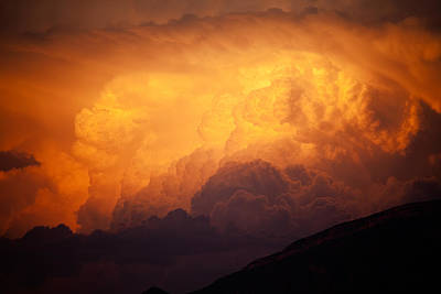 Thunderhead At Sunset Poster